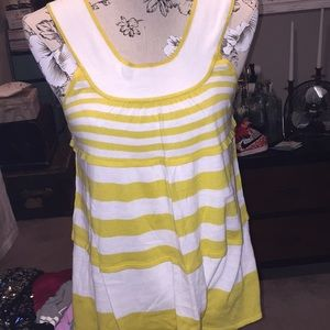 Free people BNWT gold striped tank